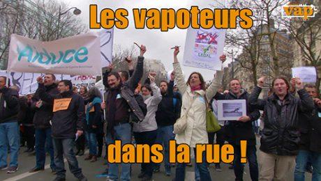 Les vapoteurs dans la rue, manifestation